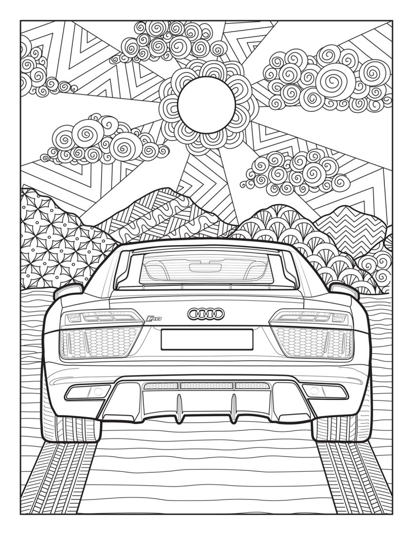 Mercedes-Benz, Audi colouring images to pass time Image #1099723
