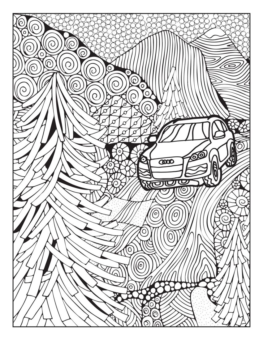 Mercedes-Benz, Audi colouring images to pass time Image #1099713