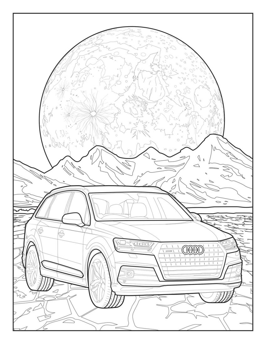 Mercedes-Benz, Audi colouring images to pass time Image #1099714