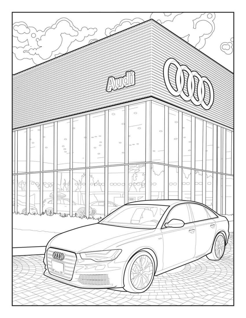 Mercedes-Benz, Audi colouring images to pass time Image #1099715