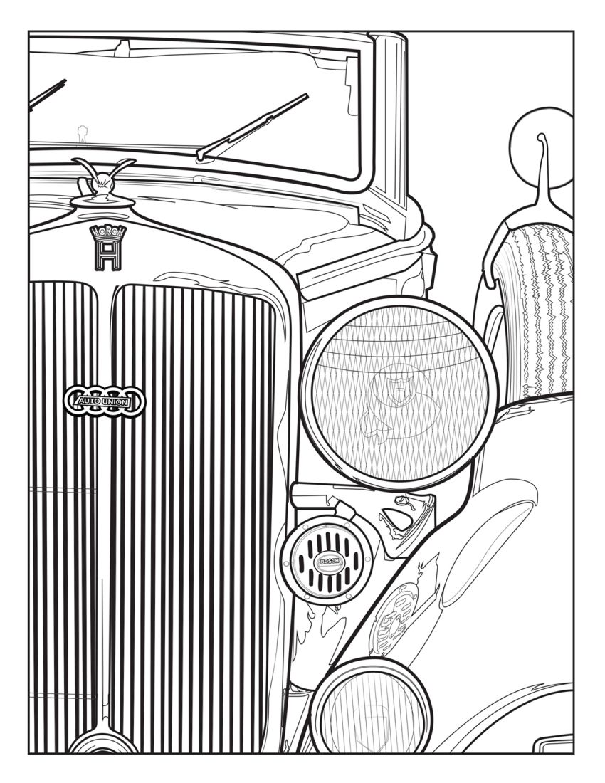 Mercedes-Benz, Audi colouring images to pass time Image #1099717