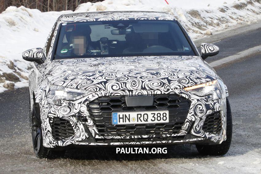 SPIED: 2021 Audi RS3 Sedan – 4 doors, over 400 hp Image #1099141