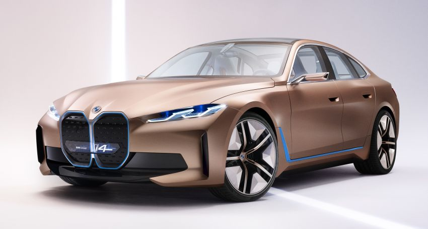 BMW Concept i4 revealed – previews electric Gran Coupe with 530 hp, 600 km range; debut in 2021 Image #1090471