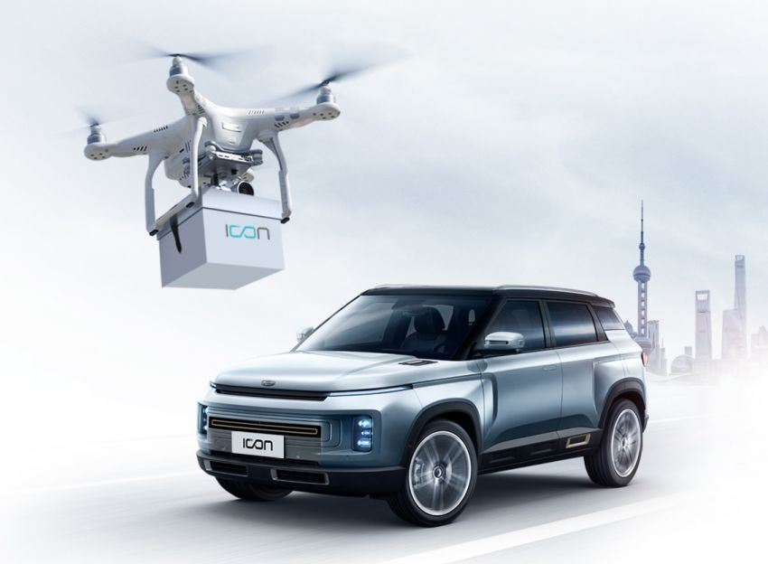 Geely delivers new car keys via drone, full contactless Image #1099652