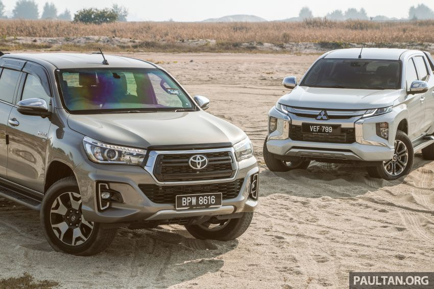 Toyota Hilux 2.8L versus Mitsubishi Triton 2.4L – which one of the two pick-up trucks is more fuel efficient? Image #1097551