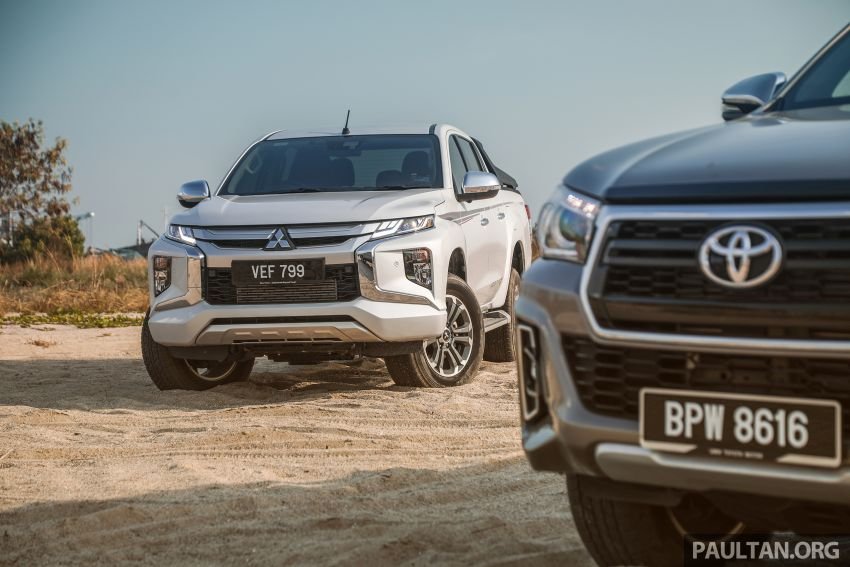 Toyota Hilux 2.8L versus Mitsubishi Triton 2.4L – which one of the two pick-up trucks is more fuel efficient? Image #1097555