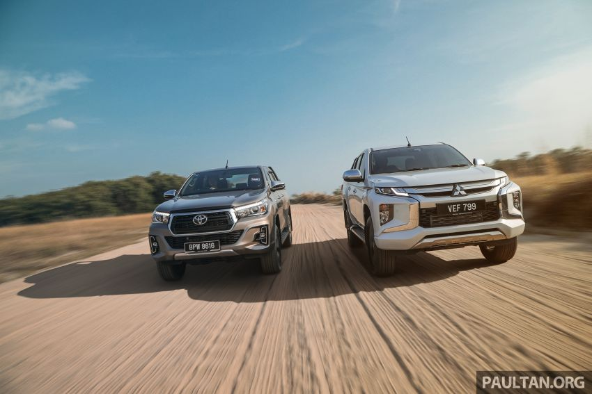 Toyota Hilux 2.8L versus Mitsubishi Triton 2.4L – which one of the two pick-up trucks is more fuel efficient? Image #1097287