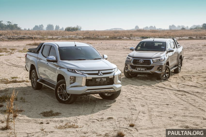 Toyota Hilux 2.8L versus Mitsubishi Triton 2.4L – which one of the two pick-up trucks is more fuel efficient? Image #1097548