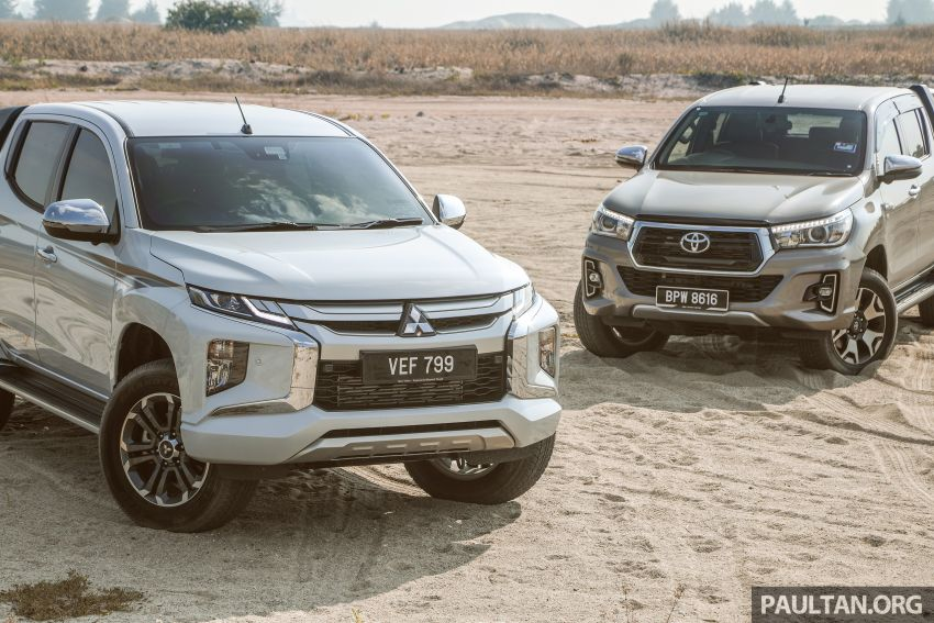 Toyota Hilux 2.8L versus Mitsubishi Triton 2.4L – which one of the two pick-up trucks is more fuel efficient? Image #1097549
