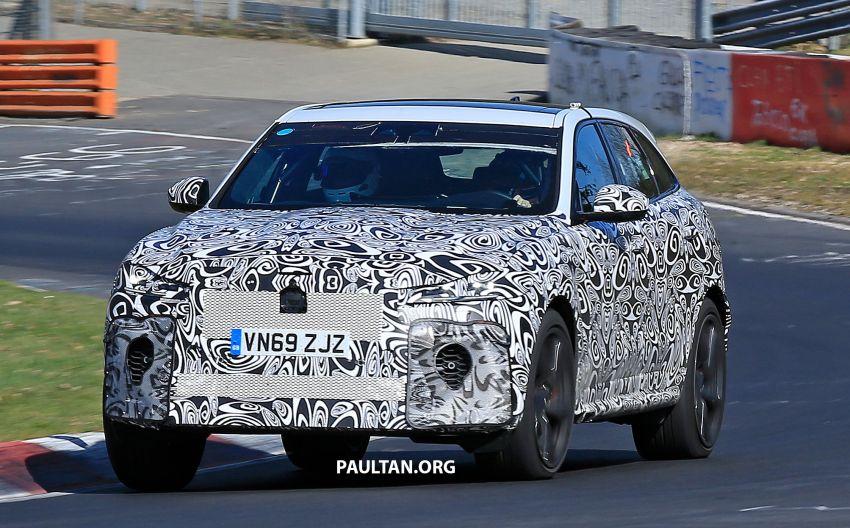 SPYSHOTS: Jaguar F-Pace SVR facelift at the 'Ring Image #1096931