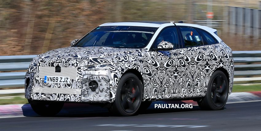 SPYSHOTS: Jaguar F-Pace SVR facelift at the 'Ring Image #1096929