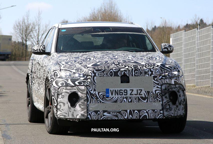 SPYSHOTS: Jaguar F-Pace SVR facelift at the 'Ring Image #1096948