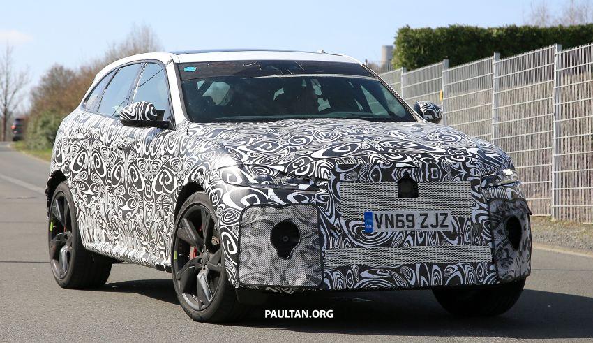 SPYSHOTS: Jaguar F-Pace SVR facelift at the 'Ring Image #1096947