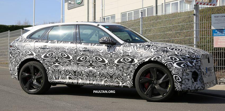 SPYSHOTS: Jaguar F-Pace SVR facelift at the 'Ring Image #1096942