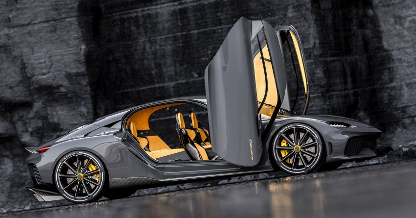 Koenigsegg Gemera – four-seater with 2L 3-cylinder Freevalve engine, three e-motors, 1,700 PS, 3,500 Nm Image #1090867