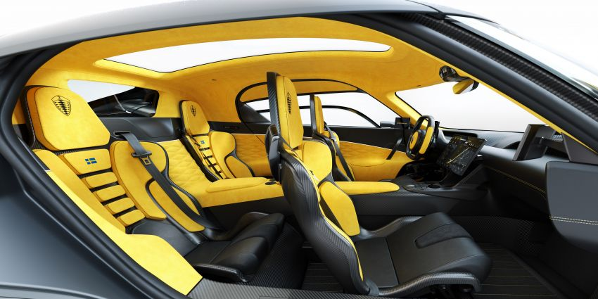 Koenigsegg Gemera – four-seater with 2L 3-cylinder Freevalve engine, three e-motors, 1,700 PS, 3,500 Nm Image #1090869