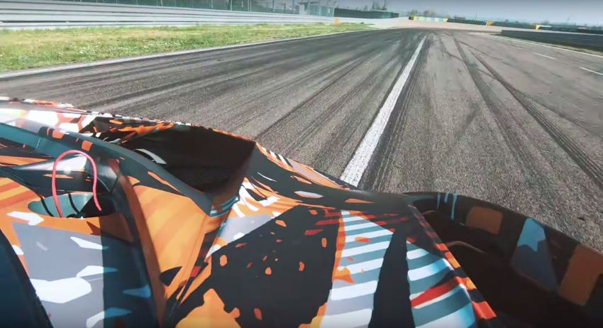 Lamborghini V12 track-only car teased again on circuit Image #1099705
