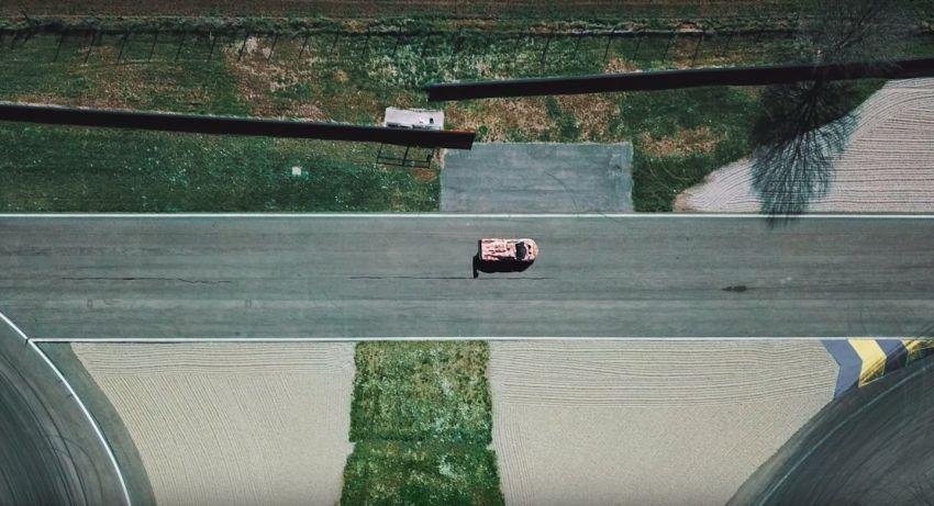 Lamborghini V12 track-only car teased again on circuit Image #1099709