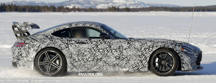 SPYSHOTS: Mercedes-AMG GT Black Series – more aggressive aero, 700 hp/750 Nm; flat-crank engine? Image #1099386