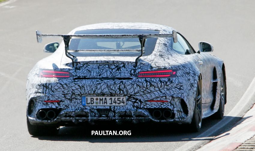SPYSHOTS: Mercedes-AMG GT Black Series – more aggressive aero, 700 hp/750 Nm; flat-crank engine? Image #1099369