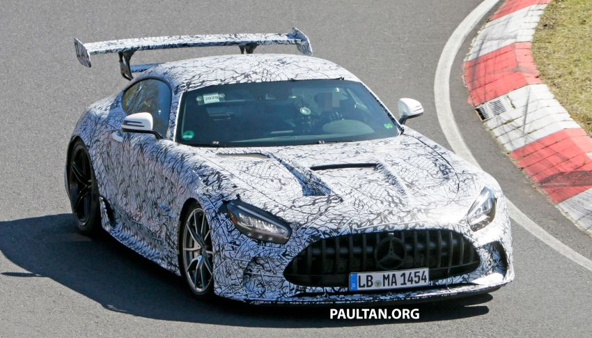 SPYSHOTS: Mercedes-AMG GT Black Series – more aggressive aero, 700 hp/750 Nm; flat-crank engine? Image #1099378