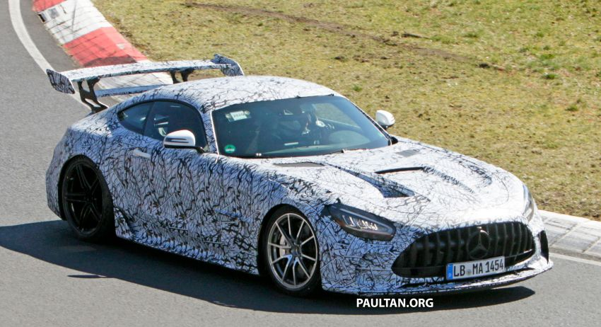 SPYSHOTS: Mercedes-AMG GT Black Series – more aggressive aero, 700 hp/750 Nm; flat-crank engine? Image #1099377
