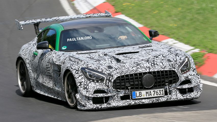 SPIED: Mercedes-AMG GT Black Series seen on video! Image #1096888
