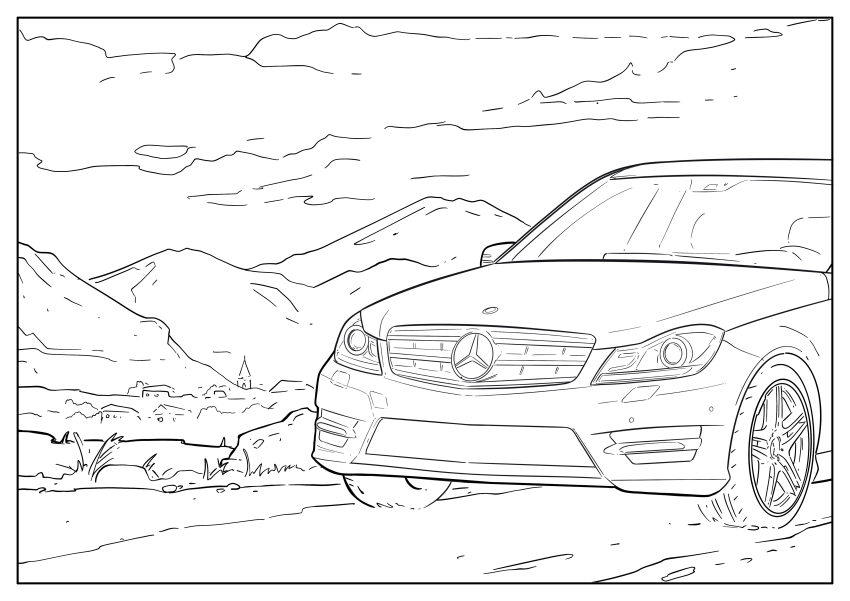 Mercedes-Benz, Audi colouring images to pass time Image #1099666