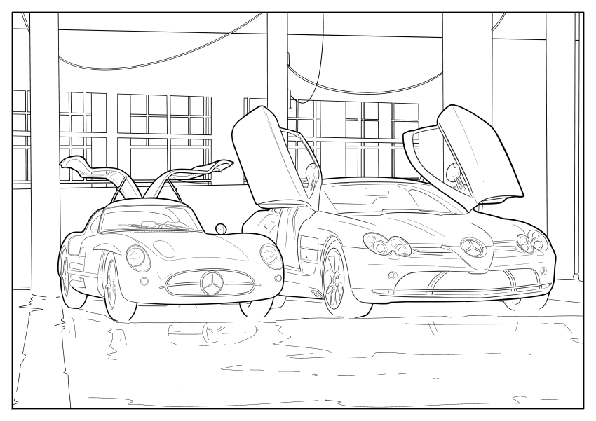 Mercedes-Benz, Audi colouring images to pass time Image #1099667