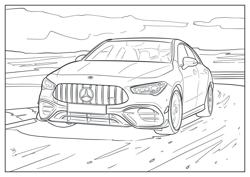 Mercedes-Benz, Audi colouring images to pass time Image #1099672