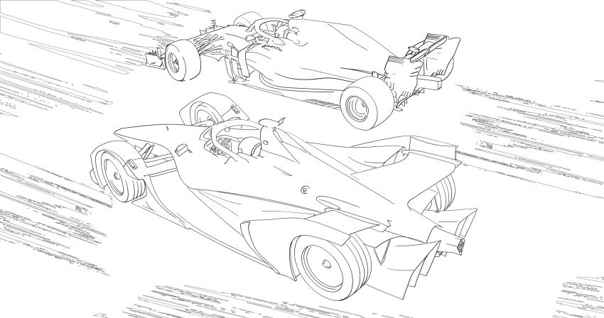 Mercedes-Benz, Audi colouring images to pass time Image #1099678