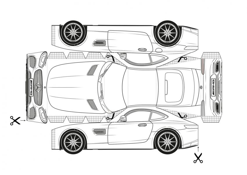Mercedes-Benz, Audi colouring images to pass time Image #1099680