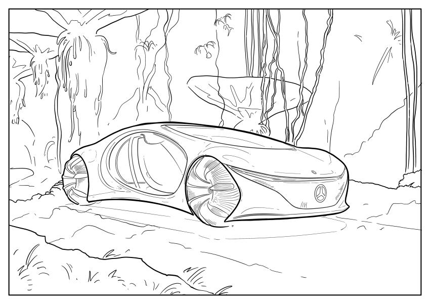 Mercedes-Benz, Audi colouring images to pass time Image #1099685