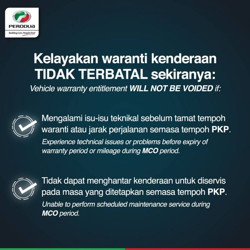 Perodua warranty unaffected if issues happen during MCO, failure to perform regular service in this period Image #1101561