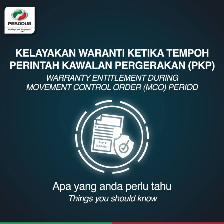 Perodua warranty unaffected if issues happen during MCO, failure to perform regular service in this period Image #1101562