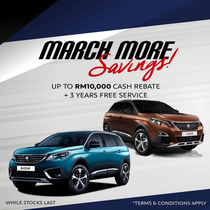 AD: Enjoy savings of up to RM10,000 with the Peugeot 3008 Plus and 5008 Plus from now until March 31, 2020 Image #1095813