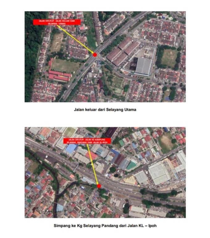 MCO: Gombak police announce 5 roadblocks, 9 road closures – Selayang, Rawang and KL-Ipoh 'old road' Image #1102217