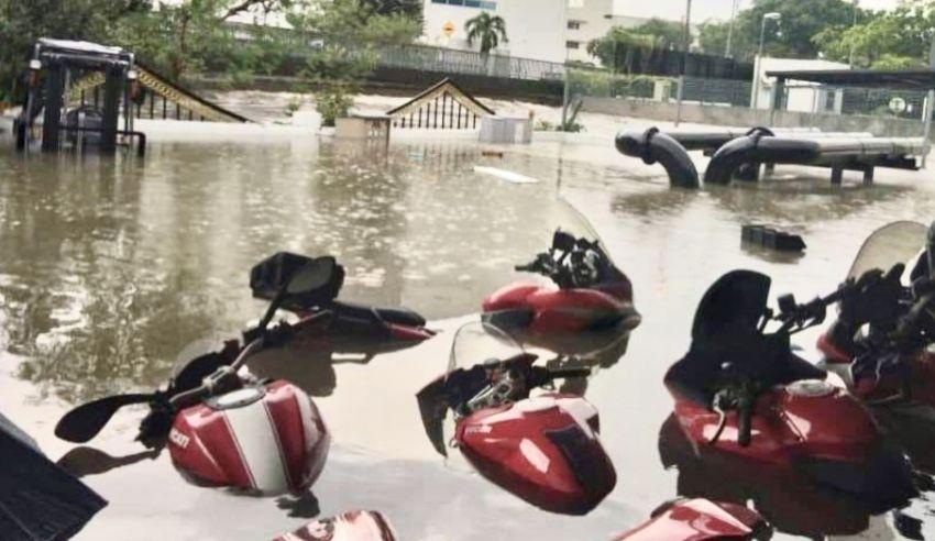 Ducati Petaling Jaya showroom hit by flood waters Image #1108089