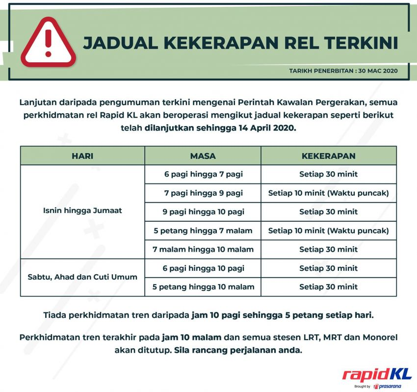 Rapid KL train and bus schedules for MCO Phase 2 Image #1101899