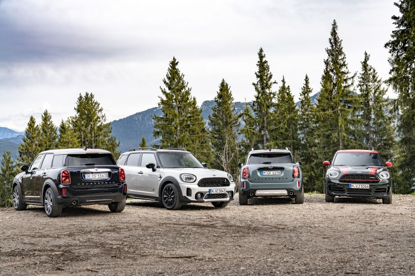 2020 F60 MINI Countryman facelift – cleaner engines, more standard kit, new displays, black exterior trim Image #1122207