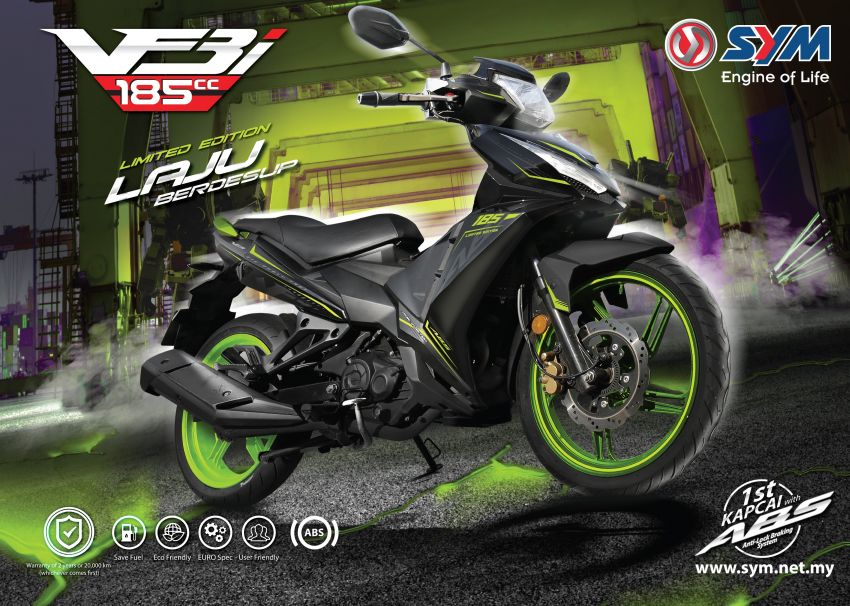2020 SYM VF3i 185 LE launched in Malaysia – RM9,338, now with 19.7 hp and 17.4 Nm torque, ABS Image #1120524