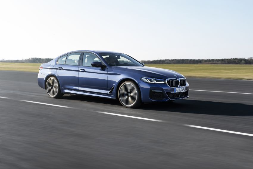 2021 BMW 5 Series facelift revealed – G30 LCI gets new looks, powertrains, 545e xDrive plug-in hybrid Image #1121852