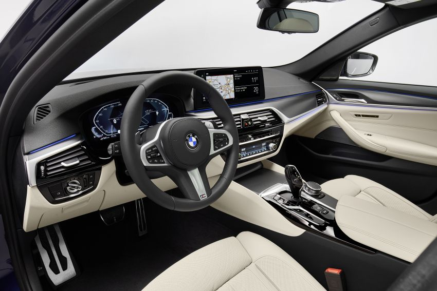 2021 BMW 5 Series facelift revealed – G30 LCI gets new looks, powertrains, 545e xDrive plug-in hybrid Image #1121876