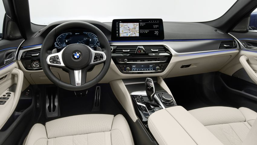 2021 BMW 5 Series facelift revealed – G30 LCI gets new looks, powertrains, 545e xDrive plug-in hybrid Image #1121877