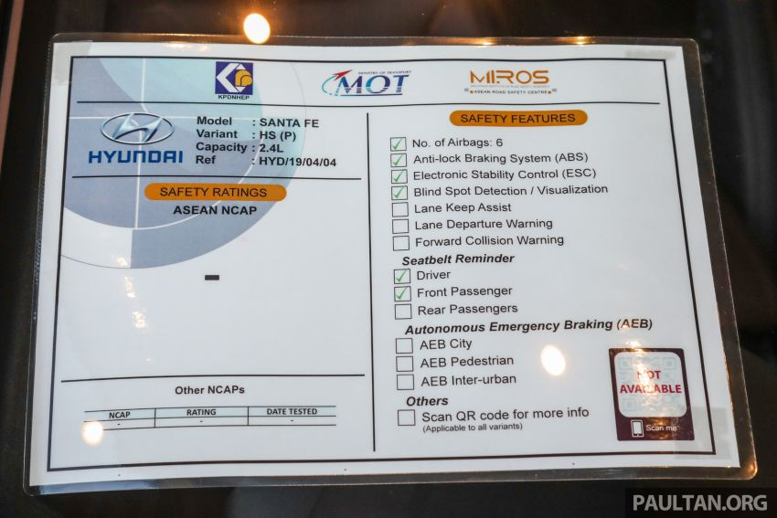 ASEAN NCAP and KPDNHEP mandatory safety rating labels begin appearing on new cars in showrooms Image #1119525