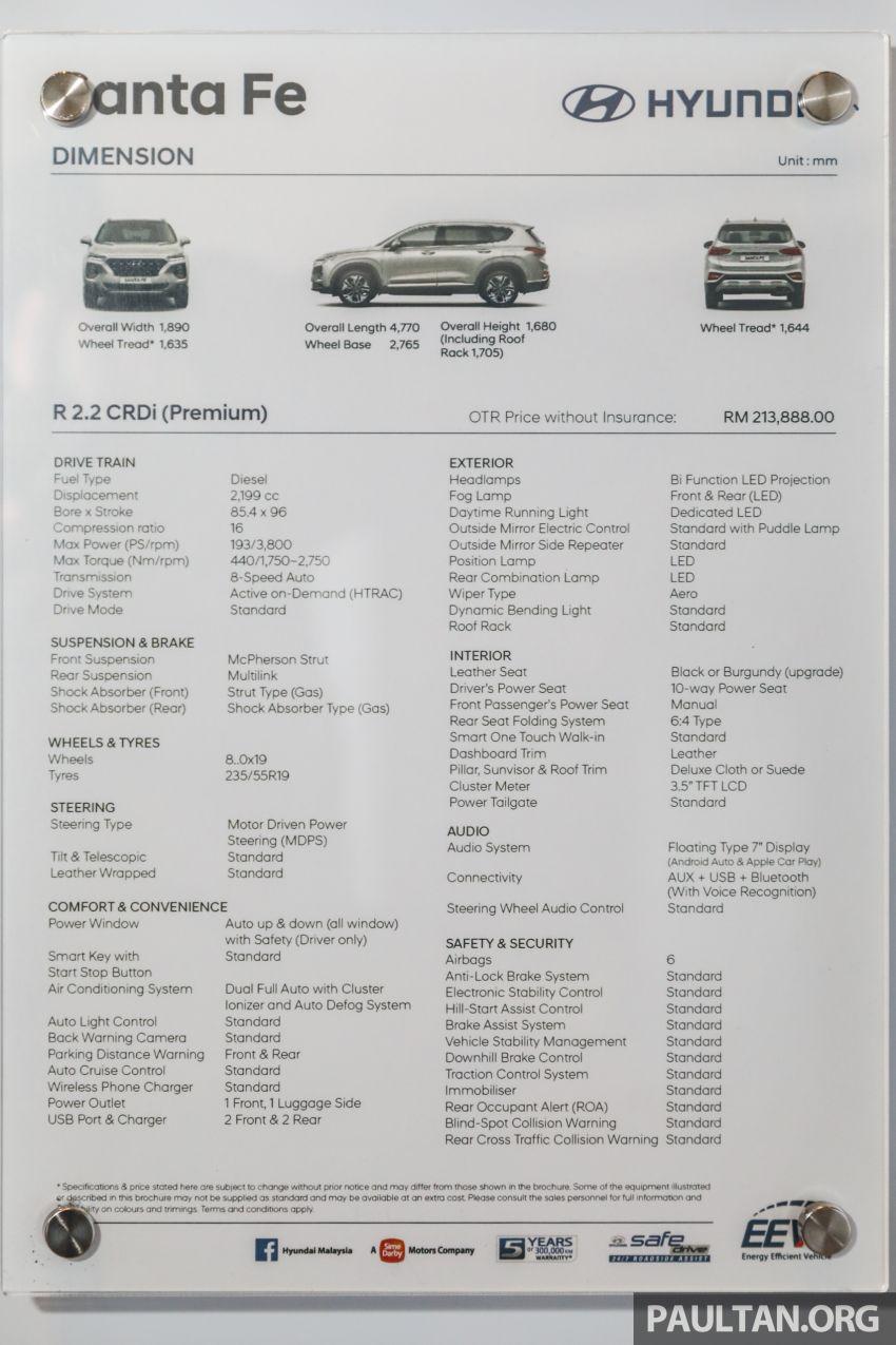 GALERI: Hyundai Santa Fe 2020 – RM2k lebih mahal, kini dilengkapi liang pendingin hawa baris ketiga Image #1120321