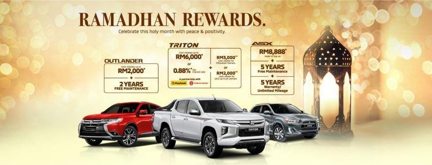 Tawaran Ramadan Mitsubishi – rebat RM2k untuk Outlander, Triton; RM8,888 tambahan <em>trade-in</em> ASX Image #1117386