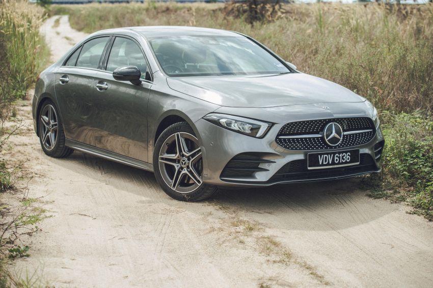 PANDU UJI: Mercedes-Benz A 250, A 200 sedan dan AMG A 35 — sama tapi tak serupa, mana lebih sesuai? Image #1121446