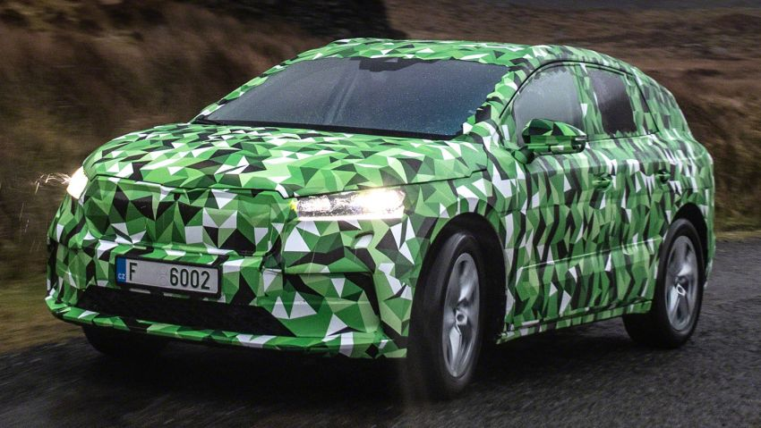 Skoda Enyaq iV teased – electric SUV with 500 km range; 302 hp RS gets from 0-100 km/h in 6.2 secs Image #1115960