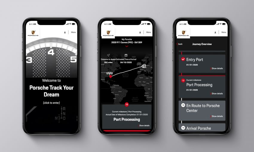 Porsche offers new car tracking for US 911 customers Image #1121296